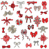 Set of gift Bows with Ribbons Stock Photography