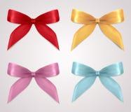 Set of gift bows (ribbons, present symbol) stock photo