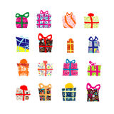 Set gift box. Good simbol Stock Photo