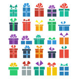 Set of gift Royalty Free Stock Photo