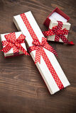 Set of gift box with hart Royalty Free Stock Photo