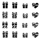 Set of gift box icon Royalty Free Stock Photography