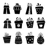 Set of gift box icons Stock Photography