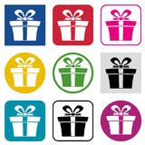 vector set of gift box icons Stock Photography