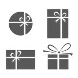 Set of gift box icons Stock Images