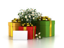 Set of gift box Royalty Free Stock Photos