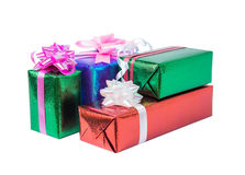 Set of gift box isolated Royalty Free Stock Photos