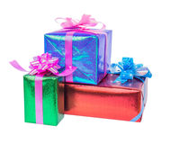 set of gift box isolated Stock Images