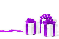 Set of gift box isolated Royalty Free Stock Images