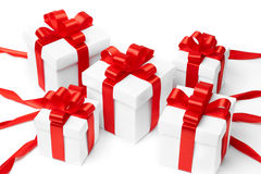 Set of gift box isolated Stock Image