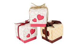 Set of gift box isolated Stock Photos