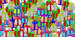 Set of gift box made from plasticine Royalty Free Stock Images