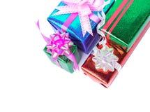 set of gift box on white Stock Photos