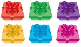 Set of gift boxes stock illustration