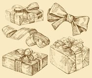 Set of  gift boxes Royalty Free Stock Photography