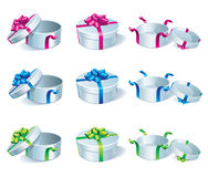 Set of gift boxes. Stock Image
