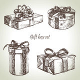 Set of gift boxes Royalty Free Stock Photo