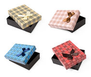 Set with gift boxes Royalty Free Stock Photography