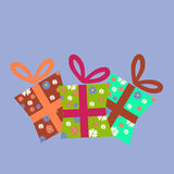 Set of gift boxes. Vector illustration of colorful gift boxes Royalty Free Stock Photography