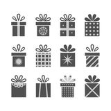 Set of gift boxes. For any holiday Stock Image