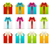 Set of gift boxes Royalty Free Stock Image