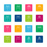 Set of gift boxes icons Royalty Free Stock Photos
