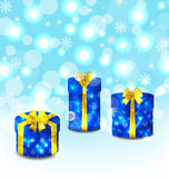 Set gift boxes on light background Stock Photography