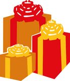 Set of gift boxes. Vector Royalty Free Stock Image
