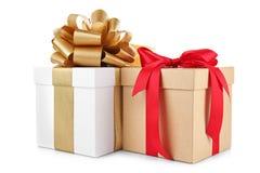 Set of gift boxes. On white background Stock Image