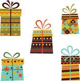 Set of gift boxes. Stock Photography