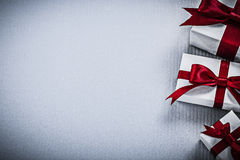 Set of gift boxes on white background holidays concept Royalty Free Stock Images