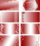 A set of gift card backgrounds Stock Photography