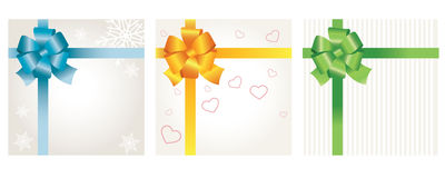 Set of gift cards Stock Photo