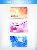 Set of gift cards Stock Images