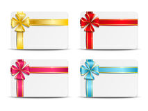 Set of  gift cards Royalty Free Stock Image