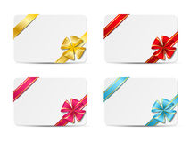 Set of gift cards Royalty Free Stock Images