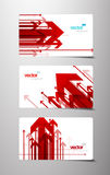 Set of gift cards with arrows. vector illustration