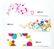 Set of gift cards or banners. stock illustration
