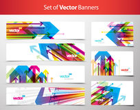 Set of gift cards and banners with arrows. Vector art royalty free illustration