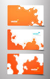 Set of gift cards with bubbles signs. Royalty Free Stock Photography