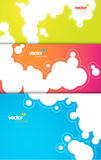 Set of gift cards with bubbles signs. Royalty Free Stock Photos