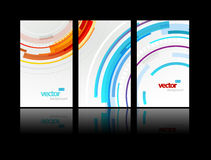Set of gift cards with circles. Vector art Royalty Free Stock Photography
