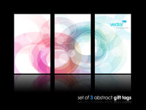 Set of gift cards with circles. Stock Image