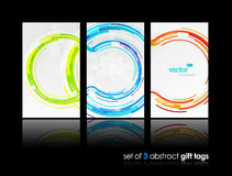 Set of gift cards with circles. Royalty Free Stock Photography