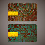 Set of gift cards. Set of gift multicolored cards Stock Photos