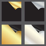 Set of gift cards with rolled corners Royalty Free Stock Photo