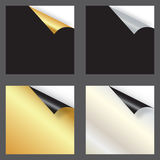 Set of gift cards with rolled corners Royalty Free Stock Photos