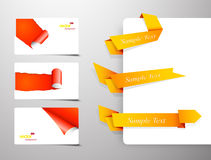 Set of gift cards with rolled corners Royalty Free Stock Image