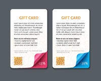 Set of gift cards with rolled corners Royalty Free Stock Photography