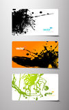 Set of gift cards with splash. Stock Images